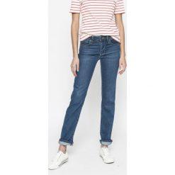 Levi's - Jeansy 714. Brązowe jeansy damskie marki Levi's®, z aplikacjami, z denimu. W wyprzedaży za 219,90 zł.