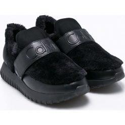 Calvin Klein Jeans - Buty Rachel Soft Nappa. Czarne buty sportowe damskie marki Calvin Klein Jeans, z jeansu. Za 599,90 zł.
