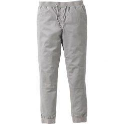 Spodnie z gumką w talii ze stretchem Slim Fit bonprix szary. Szare rurki męskie marki bonprix. Za 129,99 zł.