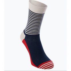 Happy Socks - Skarpety męskie, czerwony. Czerwone skarpetki męskie Happy Socks, w prążki, z bawełny. Za 39,95 zł.