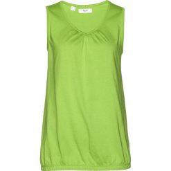 Top bawełniany bonprix zielony figowy. Zielone topy damskie bonprix, z bawełny. Za 29,99 zł.
