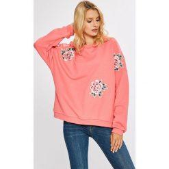 Pepe Jeans - Bluza Rose. Czerwone bluzy damskie Pepe Jeans, l, z aplikacjami, z bawełny, bez kaptura. W wyprzedaży za 299,90 zł.