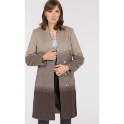 Płaszcze damskie: Cieniowany płaszcz z wełny