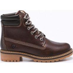Tamaris - Botki. Szare buty zimowe damskie marki Tamaris, z materiału, na sznurówki. W wyprzedaży za 269,90 zł.