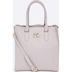 Nobo - Torebka. Szare torebki klasyczne damskie marki Nobo, w paski, z materiału, średnie. W wyprzedaży za 139,90 zł.