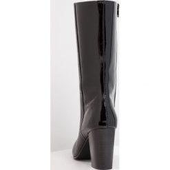 Mint&berry Kozaki black. Czarne buty zimowe damskie marki mint&berry, z materiału. W wyprzedaży za 209,50 zł.