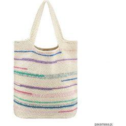 Szydełkowa torba typu shopper. Szare shopper bag damskie marki Pakamera, z bawełny. Za 459,00 zł.
