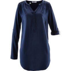 Tunika, długi rękaw bonprix ciemnoniebieski. Niebieskie tuniki damskie z długim rękawem bonprix. Za 74,99 zł.