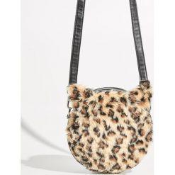 Torebka w panterkę - Beżowy. Brązowe torebki klasyczne damskie Sinsay, z motywem zwierzęcym. Za 49,99 zł.