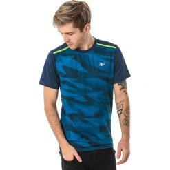 Koszulki sportowe męskie: 4f Koszulka męska H4L18-TSMF003 turkusowa r. XL