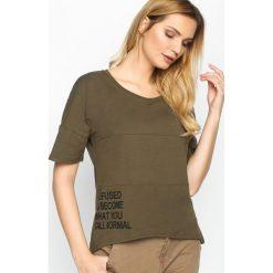 T-shirty damskie: Khaki T-shirt Refused