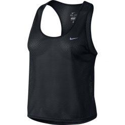 Koszulka do biegania damska NIKE RUN FAST TANK / 719483-010 - NIKE RUN FAST TANK. Czarne topy sportowe damskie marki Nike, xs, z bawełny. Za 79,00 zł.