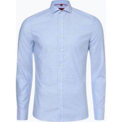 Finshley & Harding - Koszula męska, niebieski. Szare koszule męskie na spinki marki S.Oliver, l, z bawełny, z włoskim kołnierzykiem, z długim rękawem. Za 129,95 zł.