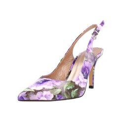 Buty ślubne damskie: Czółenka w kolorze fioletowym ze wzorem