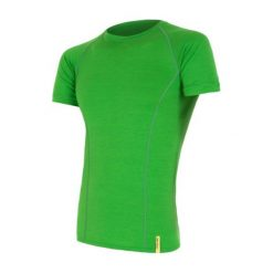 Sensor Koszulka Termoaktywna Merino Wool Active M Safari M. Zielone odzież termoaktywna męska marki Sensor, m, z materiału, z krótkim rękawem, outdoorowe. W wyprzedaży za 139,00 zł.