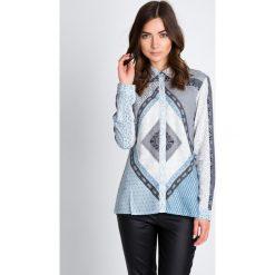 Bluzki asymetryczne: Bluzka koszulowa w orientalny wzór QUIOSQUE