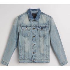 Jeansowa kurtka z recyclingu - Niebieski. Niebieskie kurtki męskie jeansowe marki Reserved, l. Za 169,99 zł.