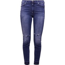 Rurki damskie: 7 for all mankind HIGHWAIST SKINNY CROPPED UNROLLED Jeans Skinny Fit blue denim