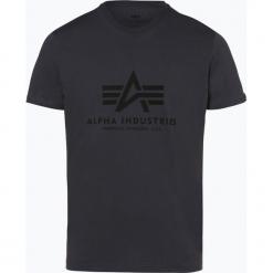 Alpha Industries - T-shirt męski, szary. Szare t-shirty męskie z nadrukiem Alpha Industries, l. Za 89,95 zł.