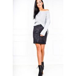 Minispódniczki: Spódnica ołówkowa z zamszu