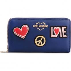 Duży Portfel Damski LOVE MOSCHINO - JC5604PP17LJ0750  Blu. Niebieskie portfele damskie marki Love Moschino, ze skóry ekologicznej. Za 429,00 zł.
