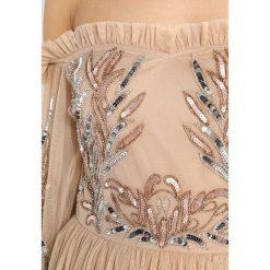 Maya Deluxe BISHOP SLEEVE BARDOT DRESS Sukienka koktajlowa nude. Brązowe sukienki koktajlowe Maya Deluxe, z materiału. W wyprzedaży za 439,20 zł.