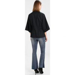 Bluzki asymetryczne: Noisy May NMHENDRIX 3/4 SLEEVE ZIP  Bluzka black