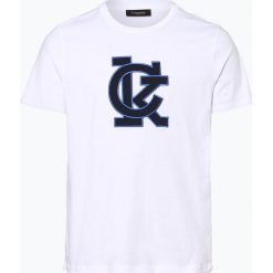 Calvin Klein - T-shirt męski – Jale, czarny. Pomarańczowe t-shirty męskie marki Calvin Klein, l, z bawełny, z okrągłym kołnierzem. Za 169,95 zł.