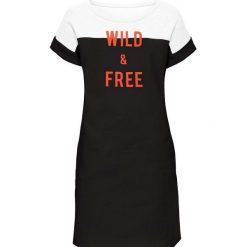 Sukienki dresowe: Sukienka dresowa bonprix czarno-biały