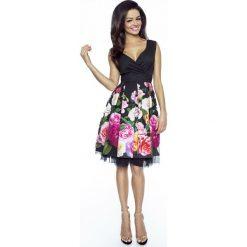 Czarna Sukienka Koktajlowa w Kwiaty z Tiulem. Brązowe sukienki balowe marki Mohito, l, z kopertowym dekoltem, kopertowe. W wyprzedaży za 181,93 zł.