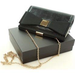 Puzderka: Ultrakobieca torebka kopertówka z kokardą czarny