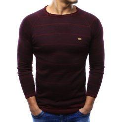 Swetry klasyczne męskie: Sweter męski bordowy (wx0943)