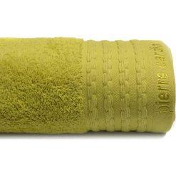 Kąpielówki męskie: Ręcznik w kolorze zielonym