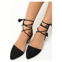 Rzymianki damskie: Czarne Sandały Stiletto