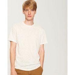 T-shirty męskie: T-shirt basic – Kremowy