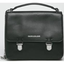 Calvin Klein - Torebka. Szare torebki klasyczne damskie marki Calvin Klein, w paski, z materiału, średnie. Za 649,90 zł.