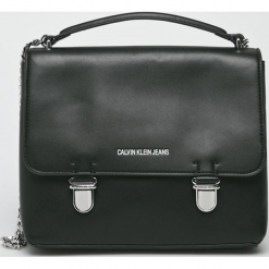 Calvin Klein - Torebka. Szare torebki klasyczne damskie Calvin Klein, w paski, z materiału, średnie. Za 649,90 zł.