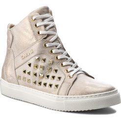 Sneakersy CARINII - B3877  F76-000-000-B67. Żółte sneakersy damskie Carinii, z materiału. W wyprzedaży za 279,00 zł.