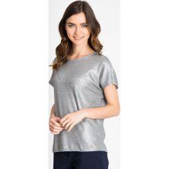 Bluzki asymetryczne: Srebrna metaliczna bluzka QUIOSQUE