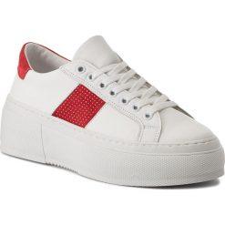 Sneakersy BRONX - 66189-A BSAHARX White/Red 2065. Czarne sneakersy damskie marki Bronx, z materiału. W wyprzedaży za 329,00 zł.