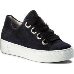 Sneakersy GABOR - 86.464.46 Ocean. Niebieskie sneakersy damskie Gabor, z materiału. W wyprzedaży za 379,00 zł.