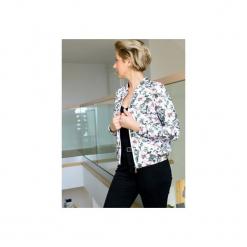 Damska bluza z nadrukiem, bluza z suwakiem w kwiaty, damska bluza dresowa. Szare bluzy z nadrukiem damskie marki ekoszale, xl, z dresówki. Za 170,00 zł.