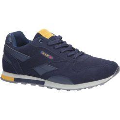 Granatowe buty sportowe sznurowane Casu 9ACH-17300. Szare halówki męskie Casu, na sznurówki. Za 69,99 zł.