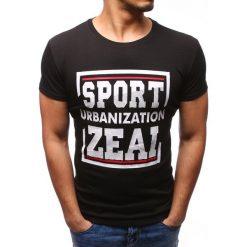 T-shirty męskie z nadrukiem: T-shirt męski z nadrukiem czarny (rx2731)