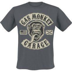 T-shirty męskie: Gas Monkey Garage GMG Patch T-Shirt ciemnoszary