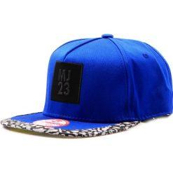 Czapka męska snapback niebieska (hx0222). Niebieskie czapki z daszkiem męskie marki Dstreet, z aplikacjami, eleganckie. Za 69,99 zł.