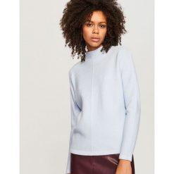 Sweter ze stójką - Niebieski. Niebieskie swetry klasyczne damskie marki Reserved, l, ze stójką. Za 79,99 zł.