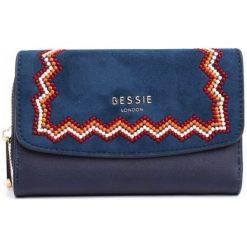 Bessie London Portfel Damski Genesis, Ciemnoniebieski. Szare portfele damskie Bessie London. Za 99,00 zł.