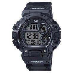 Biżuteria i zegarki męskie: Zegarek Q&Q Męski M144-002 Metronom czarny
