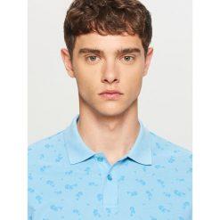Koszulki polo: Koszulka polo z nadrukiem – Niebieski
